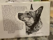australian heeler cattle dog Poem Ltd Ed 11x17 Print Hy Van Loan