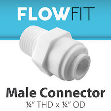 """Express Water 1/4"""" Male Connector Quick Connect Parts Water Filters / RO Systems"""