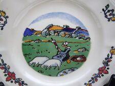 Assiette faïence décor bretonne Pays Breton Georges Géo Fourrier