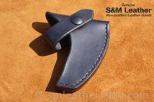Black Tomahawk Leather Sheath Mask Hawk for CRKT Columbia River RMJ Woods Chogan