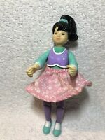 Vintage 1995 Fisher Price Loving Family Dollhouse Figure Asian Teen Sister