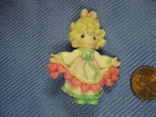 Precious Moments Lapel Pin Vintage, Girl with hearts
