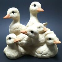 HOMCO HOME INTERIORS Baby Ducks Porcelain Figurine Masterpiece Hand Painted