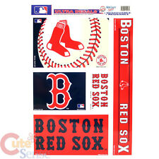 """Boston Red Sox Window Clings Decal 5 Logo on 11""""x17"""" Auto Car Accessories"""
