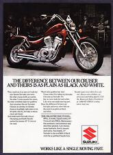 "1986 Suzuki Intruder VS700GL Motorcycle photo ""Looks Custom"" promo print ad"