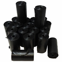 PET BIODEGRADABLE DOG WASTE POOP BAGS BLACK 400 UNSCENTED REFILL ROLLS