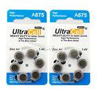 12pcs (2 Packs) Zinc Air Hearing Aid Battery 1.4V A675 PR44 7003ZD 675SA PR44