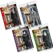 KISS 8 Inch Action Figures Dressed To Kill Throwback Series: Set of all 4