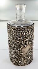 .1901 SUPERB HARDY BROS. BRISBANE LARGE STERLING SILVER PERFUME BOTTLE HOLDER.