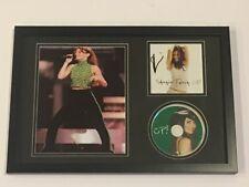 "SHANIA TWAIN SIGNED FRAMED 12X18 ""UP!"" CD PHOTO DISPLAY COUNTRY LEGEND JSA COA"