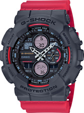 BRAND NEW CASIO G-SHOCK GA140-4A BLACK/RED ANA-DIGI MEN'S RESIN WATCH NWT!!!!!!