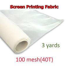 """3 yards 100M /40T Screen Printing White Mesh 63"""" wider Scren mesh New Model"""