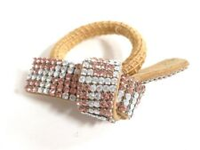 Pink Suede Other Jeweleries Auth acca Beige Clear
