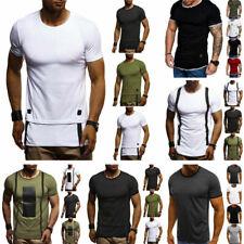 Übergröße Herren T-Shirt Bodybuilding Muskelshirt Sommer Oberteil Fitness Shirts