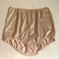 Vintage 1970s Pinehurst Lingerie Beige Silky Nylon Panties. Roomy Size 8