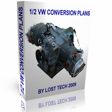 1/2 VW HALF VOLKSWAGEN CONVERSION PLANS FOR ULTRALIGHT AIRCRAFT PLUS EXTRAS
