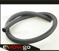NYLON cover braided 1500 PSI -6AN AN6 Oil Fuel Gas Line Hose Foot Black