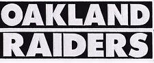 OAKLAND RAIDER 2x12 SEW ON PATCH NFL FOOTBALL JERSEY BIKER JACKET SHIRT