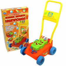 Kids Children Outdoor Garden Battery Operated Bubble Blowing Lawn Mower Toy New