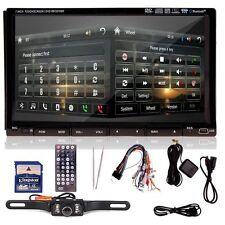"Free Camara + 7"" HD Double 2DIN Car GPS Stereo DVD CD Player Bluetooth"