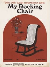 My Rocking Chair Piano Solo  vintage sheet music  1968