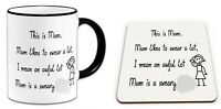 This Is Mum, Mum Likes To Swear A Lot I Mean An Awful Lot,. Mug & Coaster-BLACK