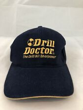 Drill Doctor Hat Cap Navy Adjustable Yellow Embroidered Blue