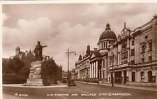 H M Theatre Wallace Statue Aberdeen unused RP pc Valentines