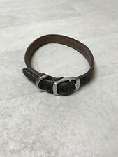 Large Leather Dog Collar Brown