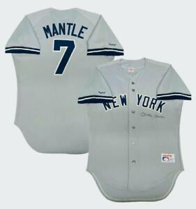 MICKEY MANTLE Autographed New York Yankees Away Rawlings Jersey JSA