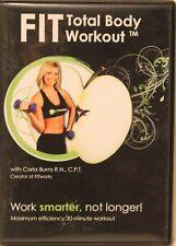 Fit Total Body Workout fitness exercise Dvd Carla Burns work smarter, not longer