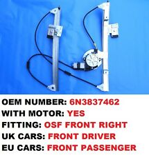 VW POLO 6N WINDOW REGULATOR FRONT RIGHT SIDE 2/3 DOOR WITH MOTOR 1994 2001