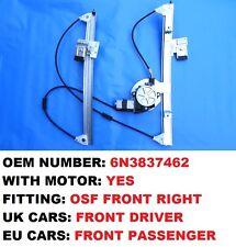VW POLO 6N WINDOW REGULATOR FRONT RIGHT SIDE 2/3 DOOR WITH MOTOR 1994>2001