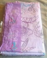 DISNEY FAIRIES TINKERBELL TWIN FLAT SHEET GIRL KIDS PURPLE COTTON FABRIC