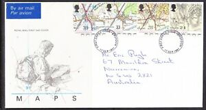 Great Britain 1991 Ordnance  First Day Cover Croydon to Narromine Aust