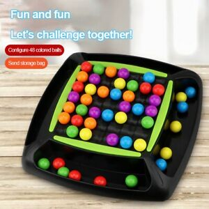 Rainbow Ball Elimination Game Toy Childhood Board Game Magic Puzzle Chess Gift