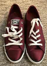 CONVERSE ALL STAR WOMEN'S SHOES MAROON SIZE 7 557975F