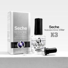 3 x Seche Vite Restore Polish Thinner 0.5 oz