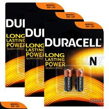 6 x Duracell Alkaline N LR1 1.5V batteries MN9100 E90 AM5 2 in Pack
