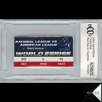 2004 World Series Ticket Stub Red Sox Vs. Cardinals Game 4 BCCG BGS Authentic