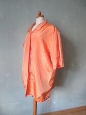 Sisignora  Bluse Shirt orange Kurzarm Sommer leicht Größe 48 XXXXL (S39) *