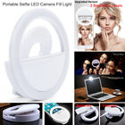 Portable Selfie 36 LED Ring Fill Light Clip Mirror Light For Camera Phone iPhone