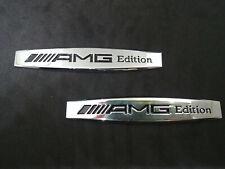 2 X STEMMA BADGE LOGO MERCEDES AMG EDITION CLASSE A C B E CLA CLK M ML S