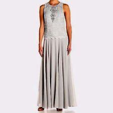 Alex Evenings Women's Long Sleeveless A-Line Mock Dress Size 8 #A696 MSRP 229.00