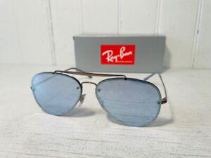 RAY-BAN RB3584N 90531U BLAZE AVIATOR Bronze Copper w Violet Mirror Suns $200