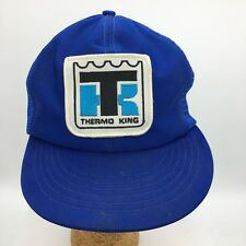 Vintage Thermo King Patch Front Made in USA Blue Snapback Trucker Hat Cap