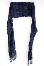 WINTER INSPIRED NAVY BLUE/ COLORFUL STRAND/SEQUIN ENCRUSTED SCARF (MS31)
