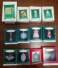 Hallmark Lot of 12 Miniature Ornaments in Boxes