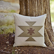 SOUTHWESTERN PILLOW : BROWN CABIN SOUTHWEST NATIVE QUILTED TOSS CUSHION