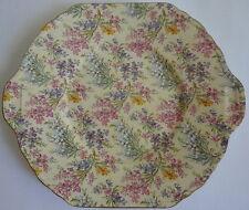 English Heather Chintz Pattern Lord Nelson Ceramic Octagon Tab Handle Platter